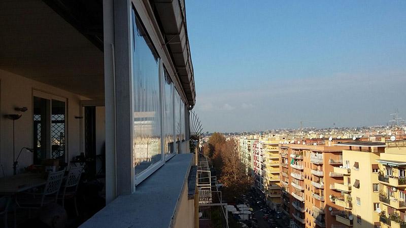 Chiusure perimetrali attico Roma